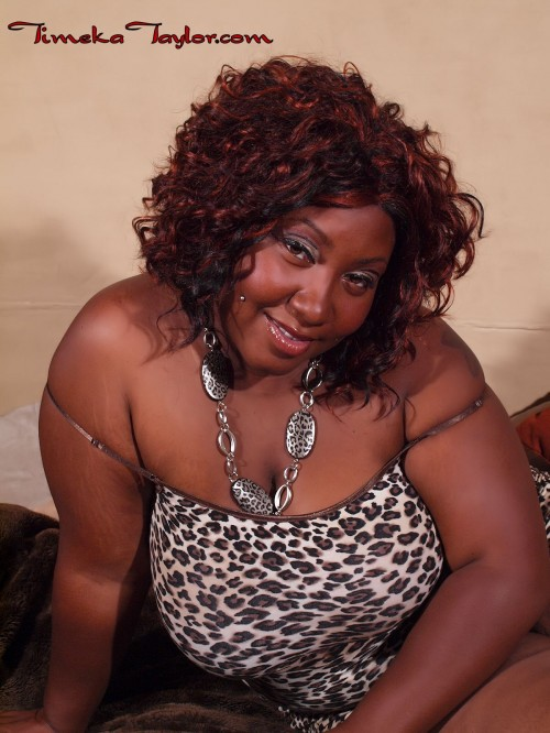 Big tit black BBW, Timeka Taylor, is ready to give head.